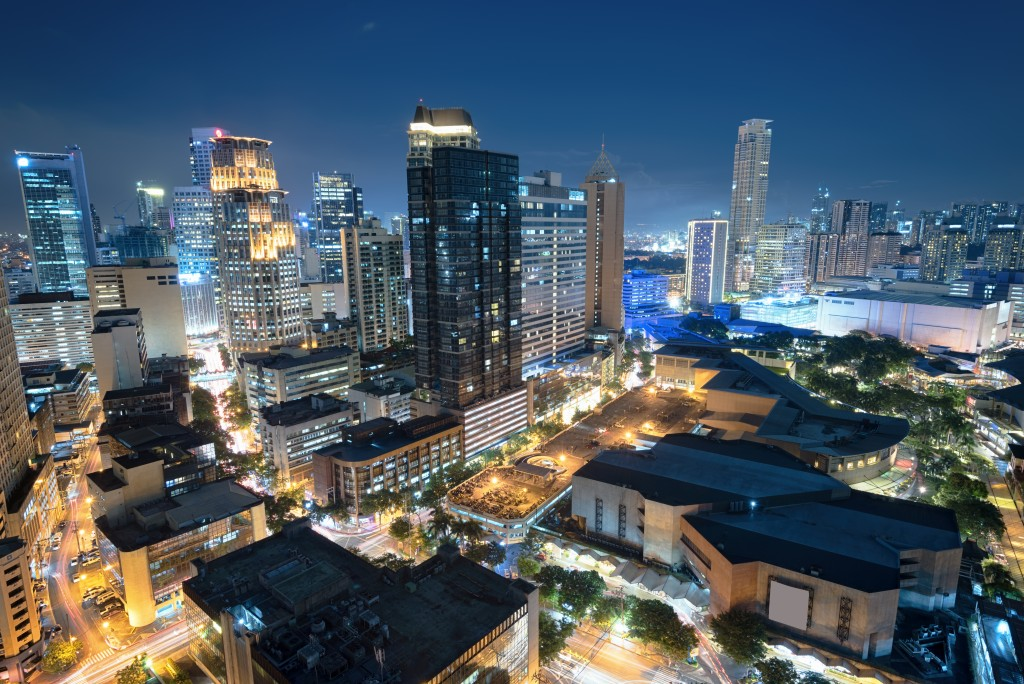 night view of Makati