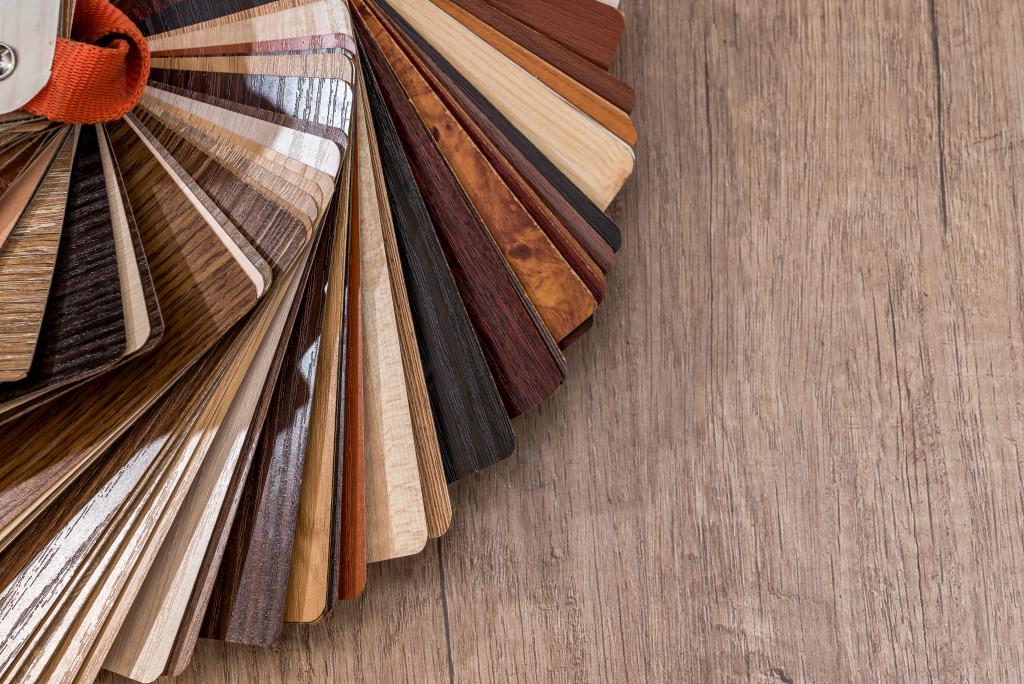 faux wooden tiles