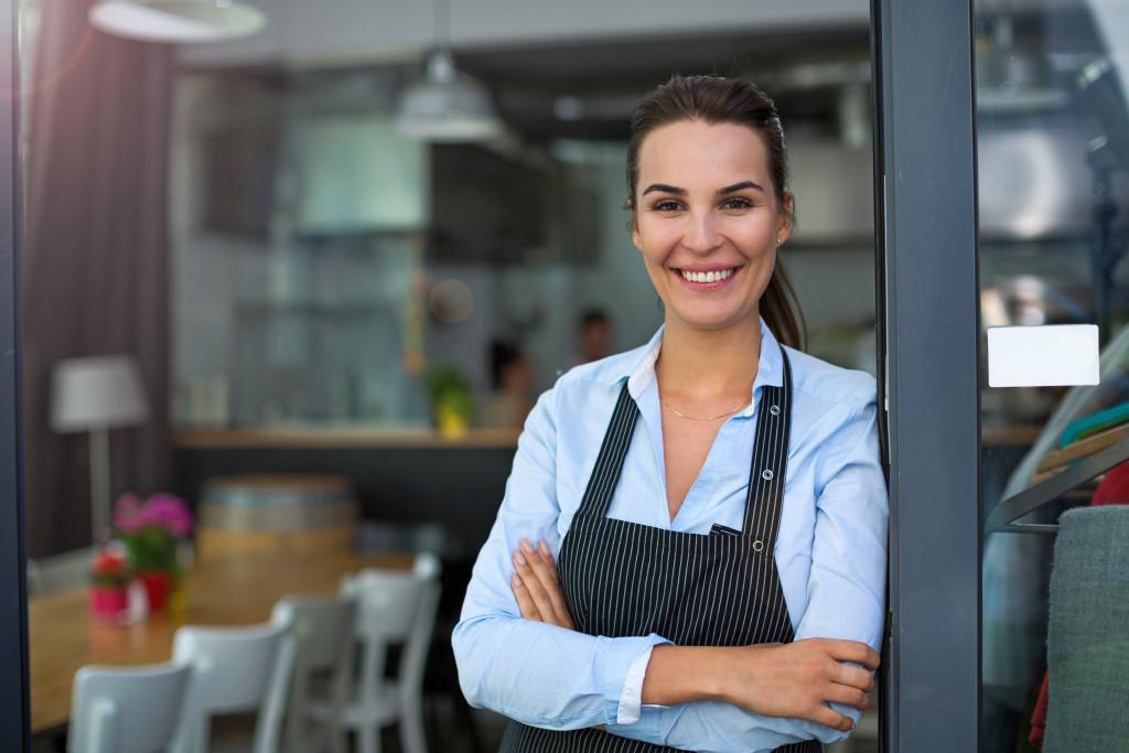 waitress at a restaurant